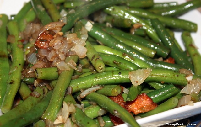 Ham, Green Beans and Scalloped Potatoes