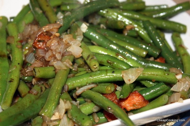 Steam Sauteed Green Beans