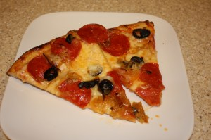 pizza with homemade pizza sauce