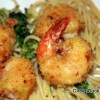 Breaded Fried Shrimp with Spaghetti