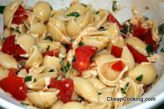 pasta with fresh tomatoes