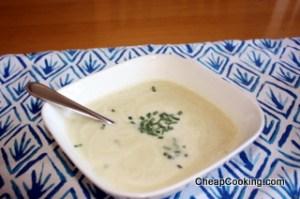 Vichyssoise or Cold Leek and Potato Soup