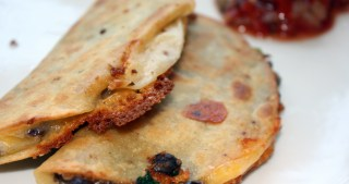 Black Bean Quesadillas / Fried Tacos