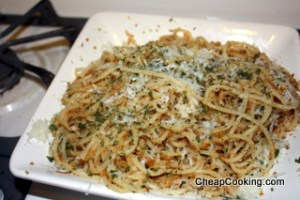 pasta with breadcrumbs