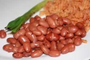 pinto beans and red rice