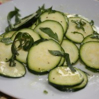 Zucchini Salad with Lemon Parmesan Dressing from Polpo