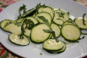 Zucchini with Lemon Parmesan Dressing