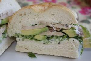 Chicken and Avocado Sandwich with Herb Mayonnaise
