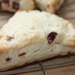 cream scones with cranberries