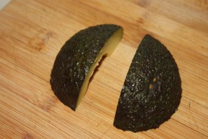 quartered avocado