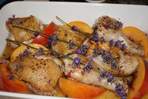 Chicken with Peaches & Lavender