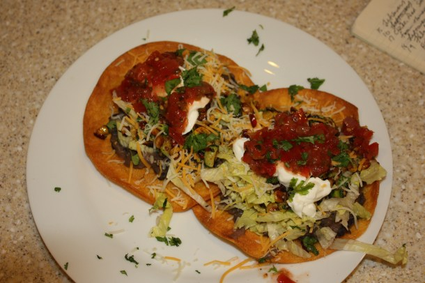 zucchini and corn chalupas