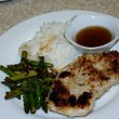 Vietnamese Breaded Pork Chops and Stir-Fried Asparagus