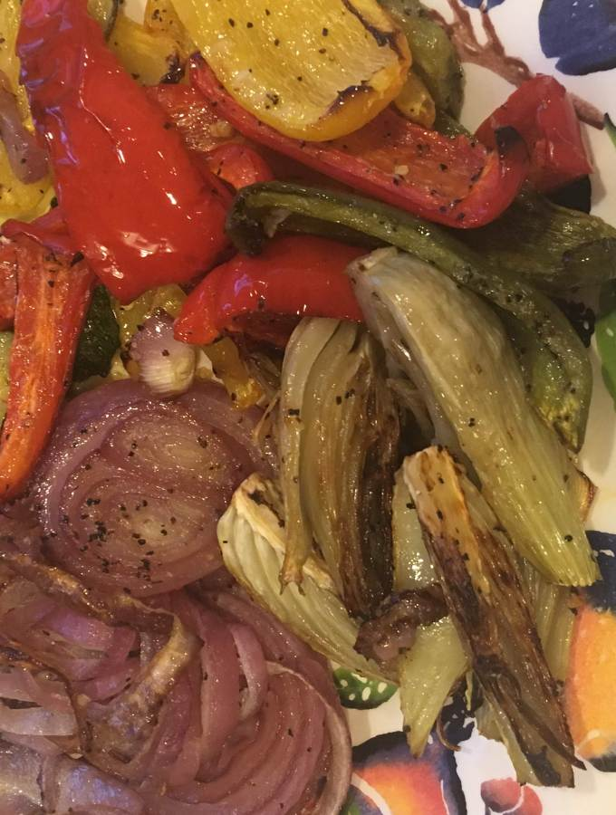 oven-roasted summer vegetables