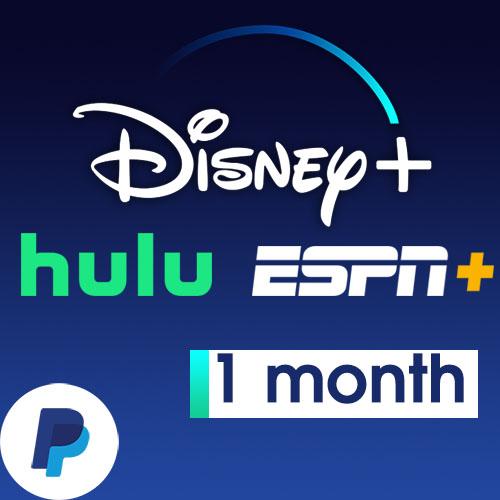 Disney+ Plus, Hulu, Espn+ Bundle Account [1 Month]