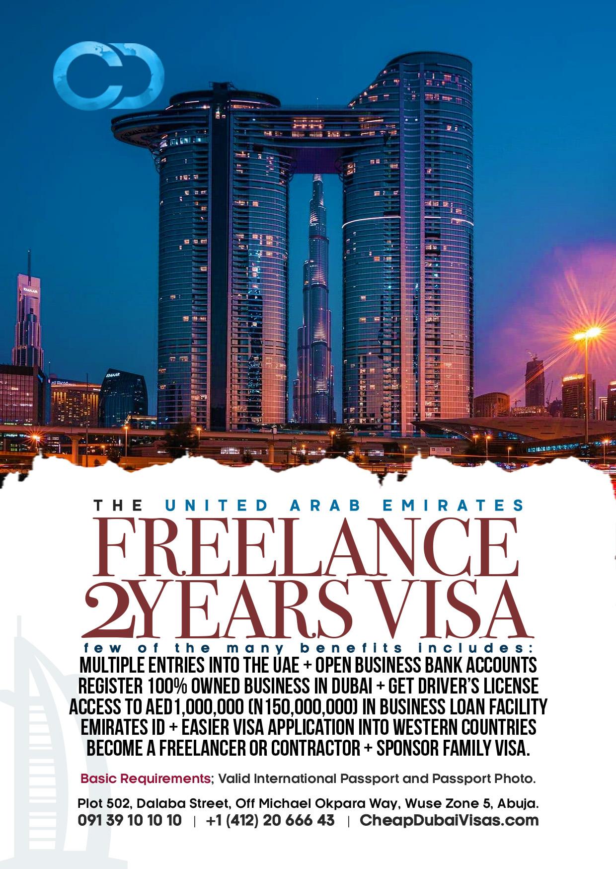 Dubai Freelance Visa Cheap Dubai Visas