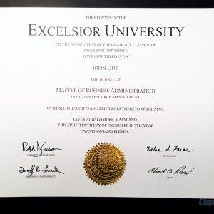 Fake Excelsior University Diploma