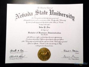 Fake Nevada State University Diploma