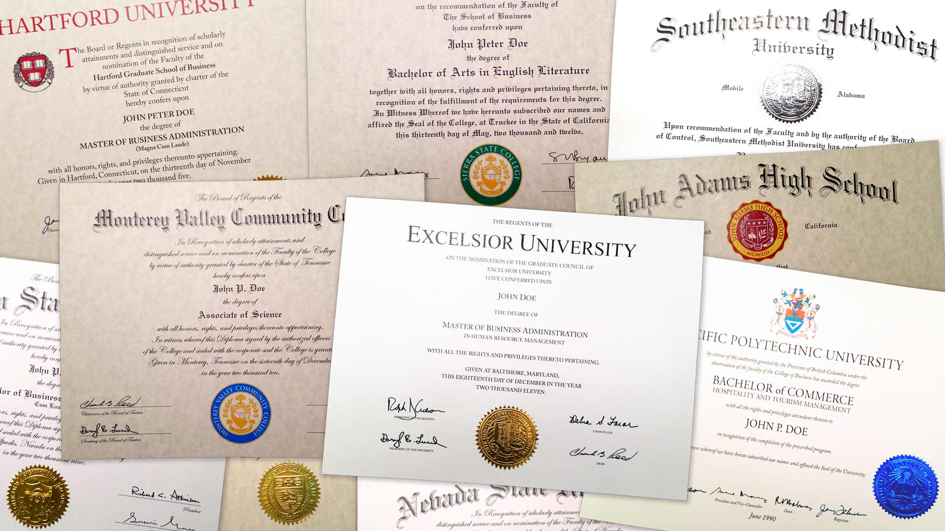 Fake College & University Diplomas  Cheaper-than-Tuition! In Fake Diploma Certificate Template