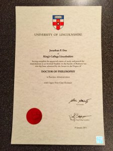 UKD02 - 11x17 Fake UK Diploma Certificate
