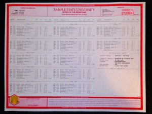 Fake University Transcript (T03-RED)