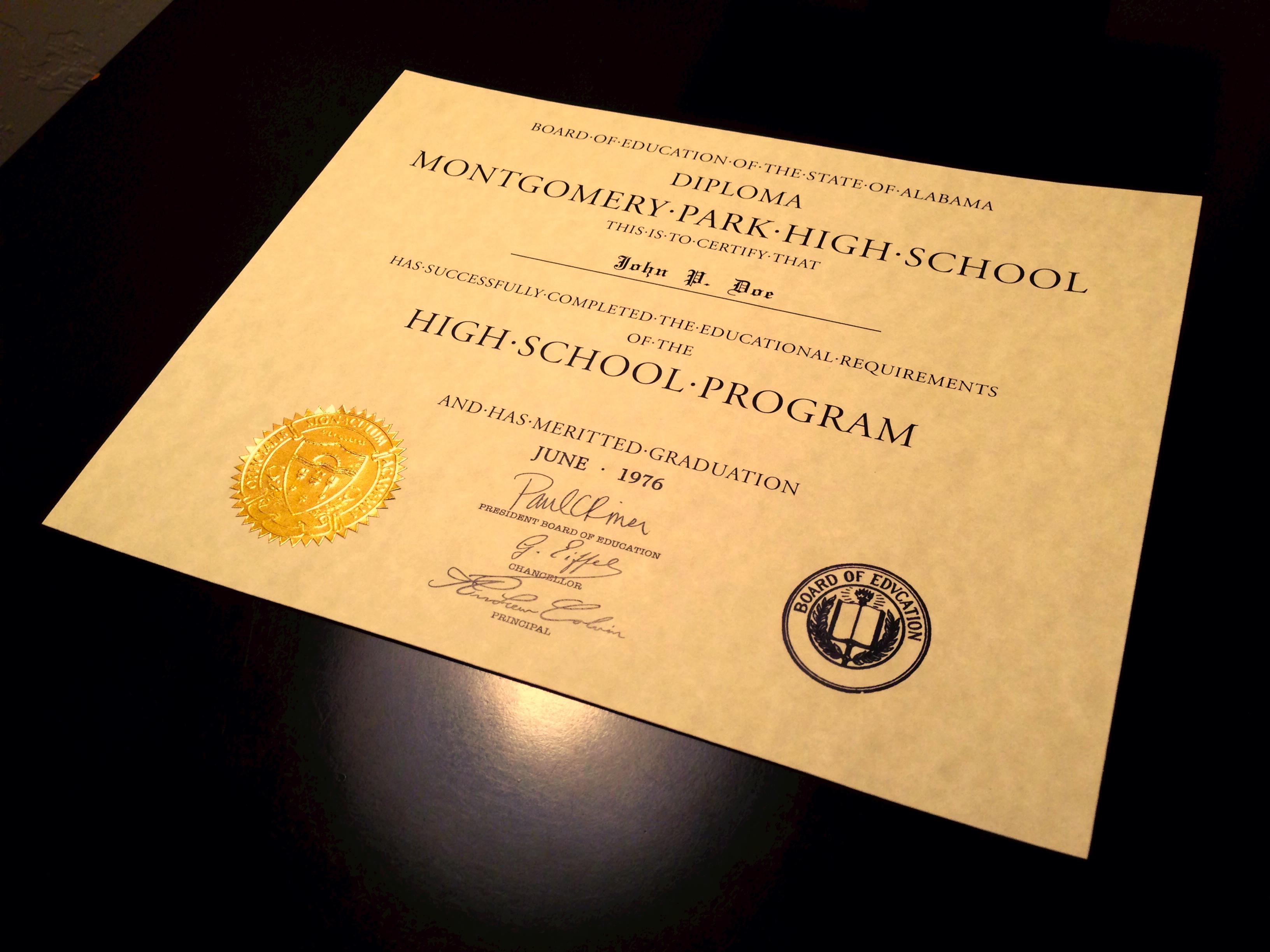 Buy A Fake High School Diploma Amp Transcripts Online