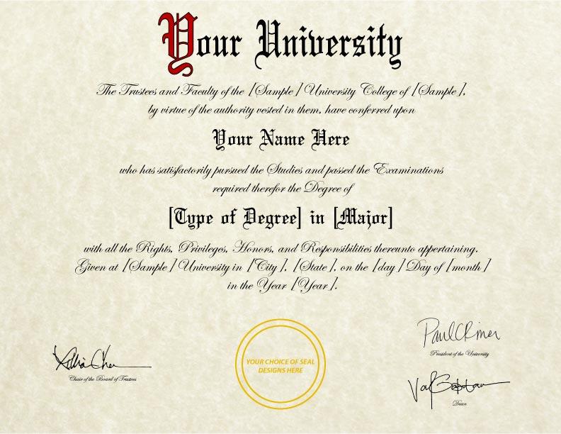 Fake Diploma Template D 31