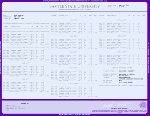 COLLEGE TRANSCRIPT TEMPLATE // T03-PURPLE