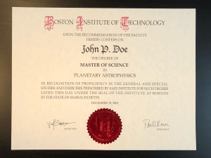 Fake Institute of Technology Diploma