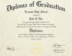 Novelty High School Diploma (HS-D02)