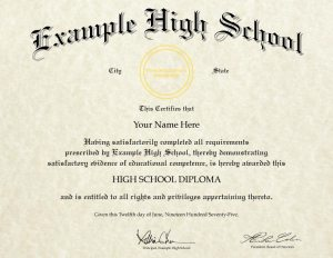 Fake High School Diploma Design (HS-D04)