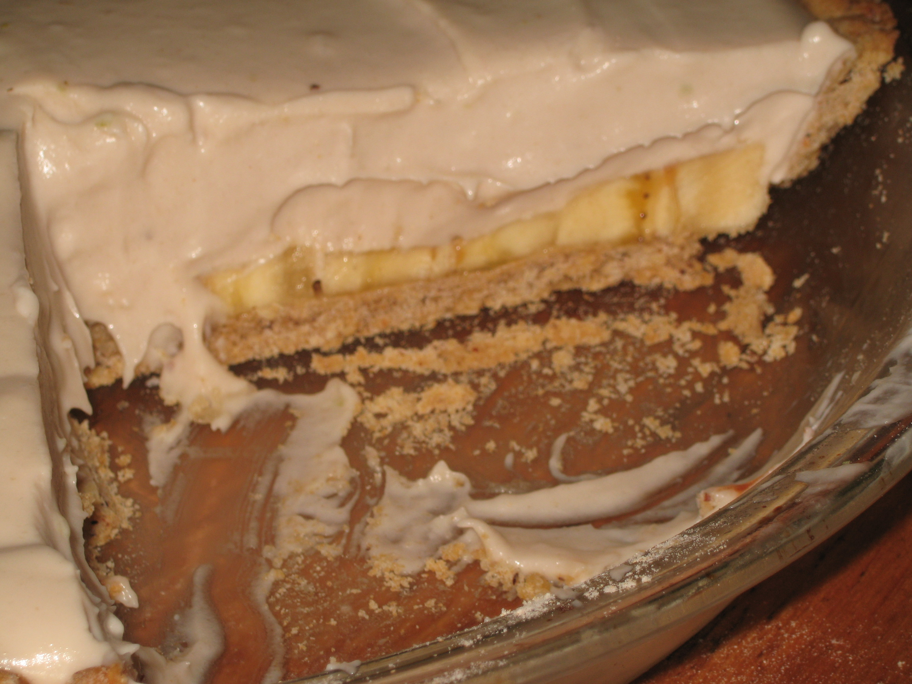 Half-Eaten Banana Cream Pie