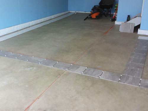 Posicionamiento de piso de porcelanato