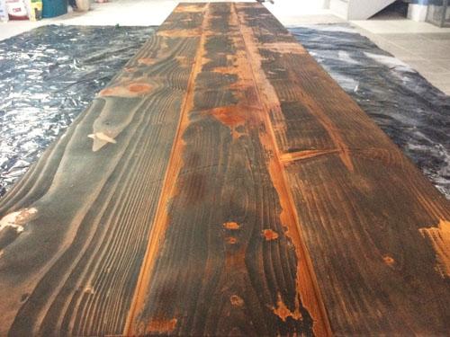 Encimera de madera solida