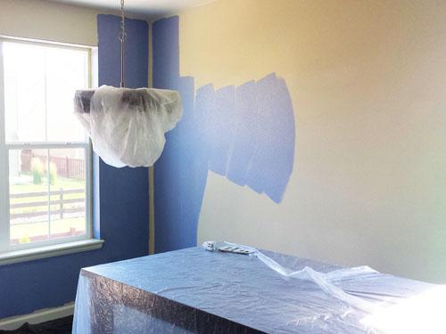 Pintando la cocina y el comedor