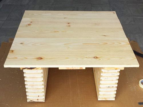 Mesa de centro hecha a mano