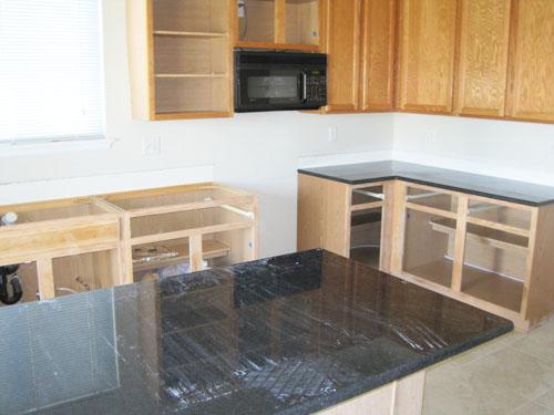 Installing new Black Pearl granite countertops