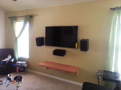 DIY home theater, final stages