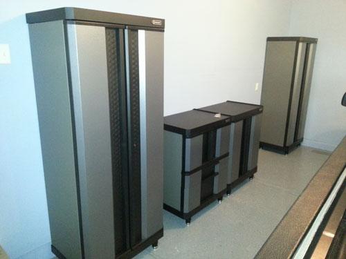 Installing Storage Cabinets