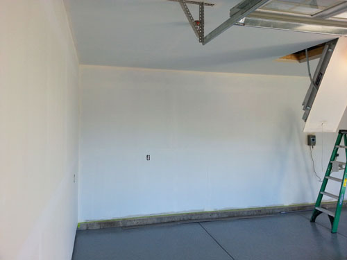 Priming Painting Garage Walls And Ceiling