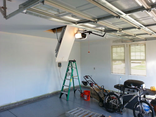 Priming Garage Walls and Ceiling