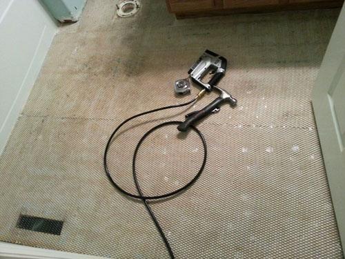 Installing steel lath as a diy backer board alternative