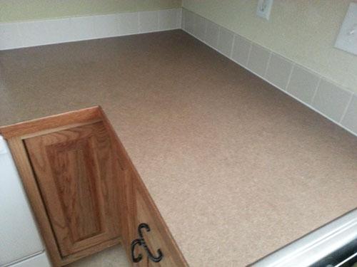 Brown kitchen laminate countertops