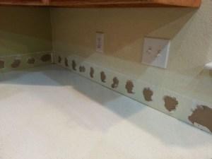 Preparing to install new kitchen backsplash