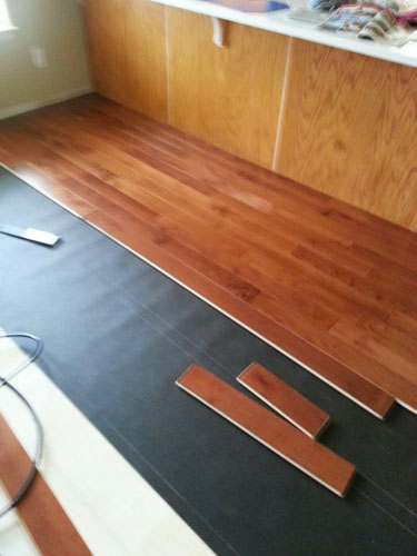Laying a Maple Hardwood Floor