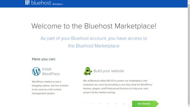 Installing WordPress using the Bluehost Marketplace