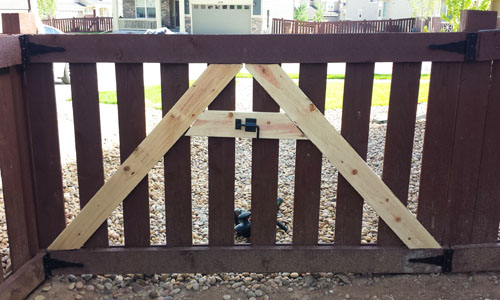 wood fence gate hardware