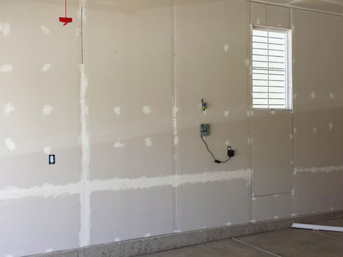 Drywall for garage walls