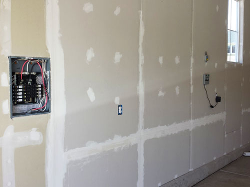 Drywall garage walls