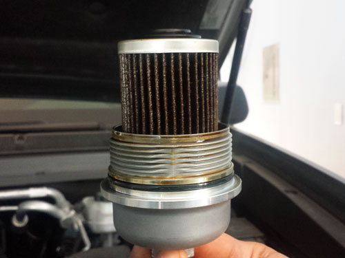 Old oil filter replacement